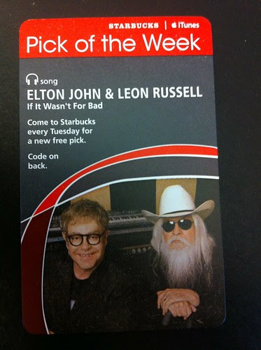Starbucks iTunes Pick of the Week - Elton John and Leon Russell - If It Wasn't For Bad