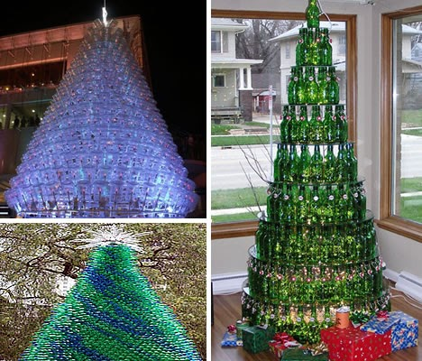 Christmas tree decorations using recycled materials christmas decorating - Plastic bottles recycling ideas boundless imagination ...
