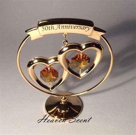 50th Golden Wedding Anniversary Gift Ideas Gold Plated