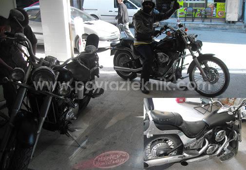 Profesyonel Motorsiklet Boyama Mat Motorsiklet Poyraz Teknik