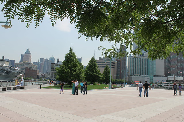 Hudson River Park, next to the Intrepid