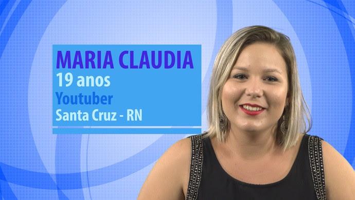 Maria Claudia é participante do BBB16 (Foto: Gshow)