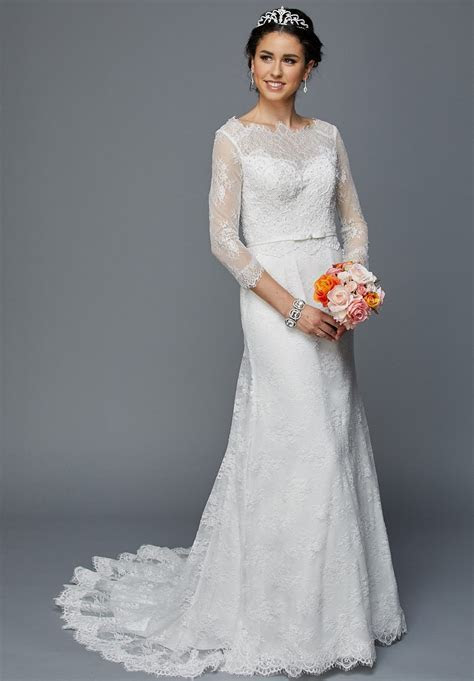 Juliet 364 Quarter Sleeves Fit and Flare Wedding Dress