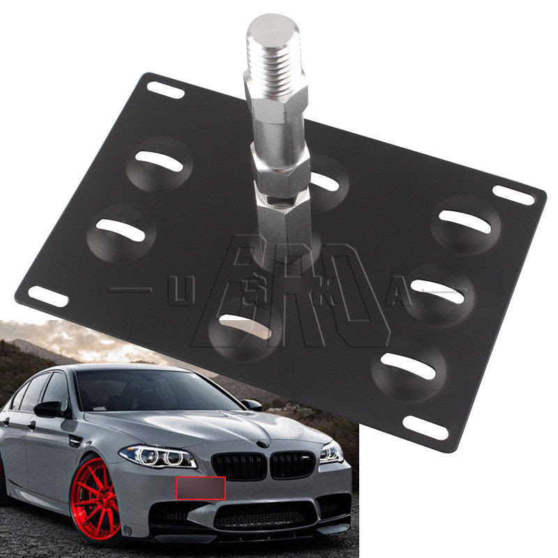 11-18 5-Series F10 G30 14-19 Mini Cooper F55 F56 Bumper No Drill Frame Mount Holder SIZZLEAUTO Front Tow Hook License Plate Relocator Bracket for BMW 12-18 3-Series F30 14-18 4-Series F32 F33 F36