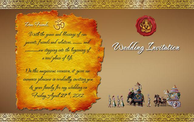 Download Indian Hindu Wedding Card Design PSD file at Download ...
