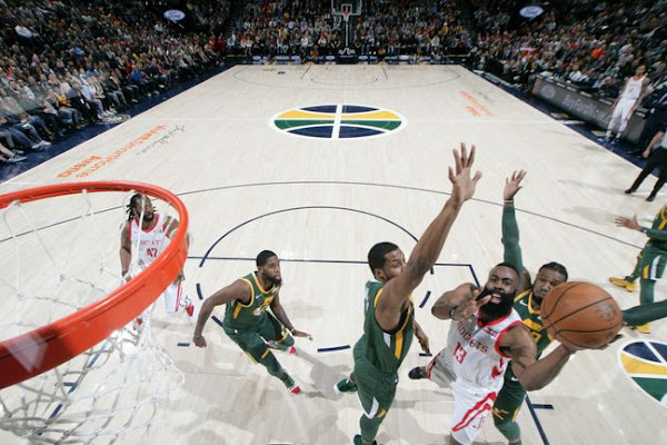 0aa975c8931 James Harden extends streak as Houston Rockets defeat Utah Jazz