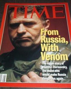 Portada de la revista TIMES de julio de 1994, con Vladimir Zhirinovski.