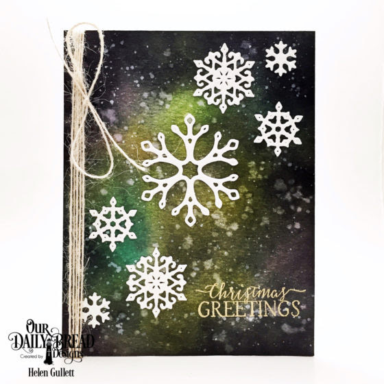 ODBD - Snowflake Christmas Greetings 2 Ways