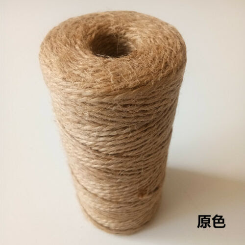 1 5mm X50m Jute Burlap String Hemp Rope Party Gift Wrapping Cords Thread Diy C E