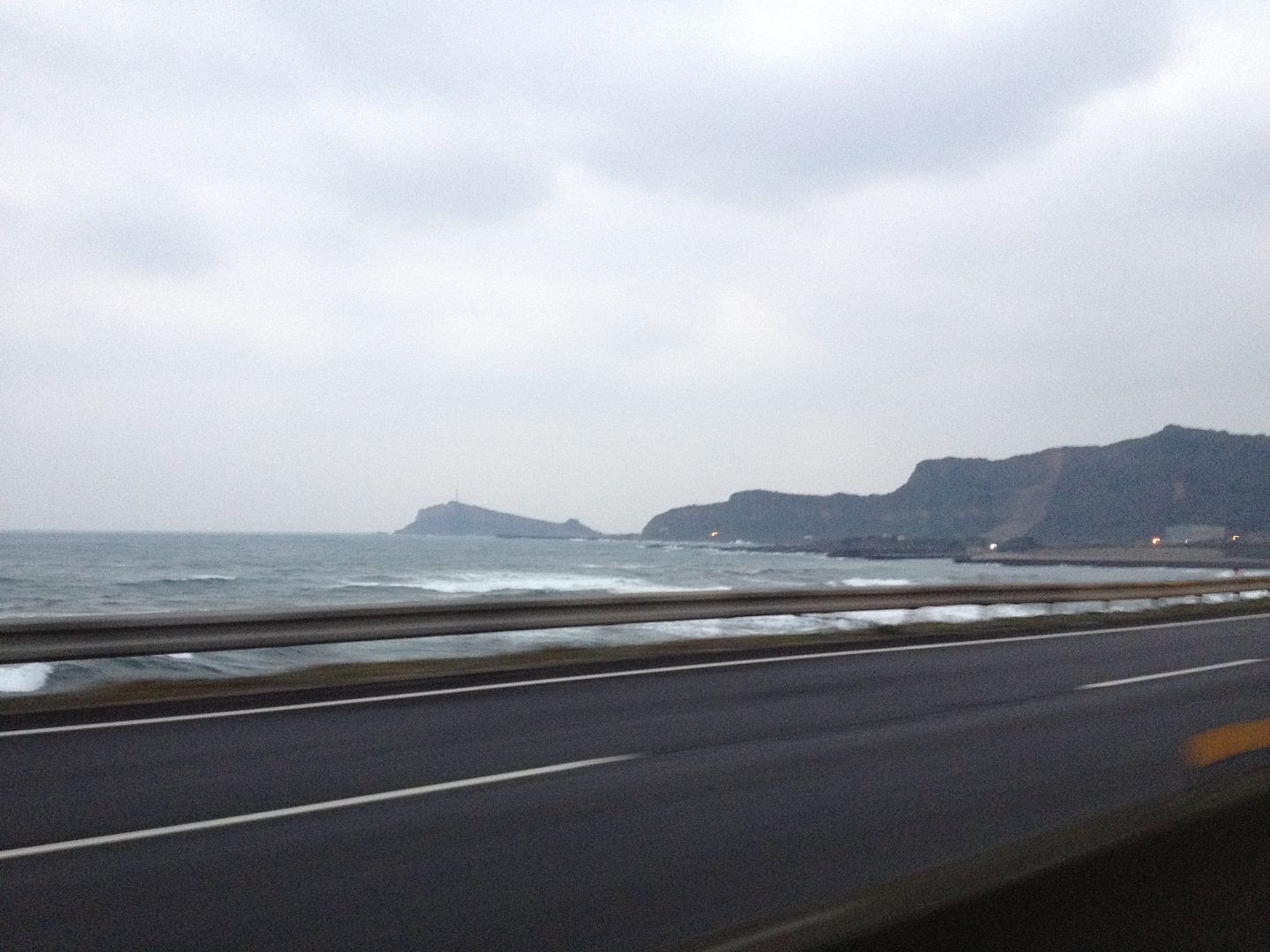 On the Way to Yehliu Geopark Near Taipei