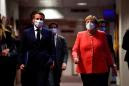 Behind fortress walls, Macron and Merkel to chart Europe's course