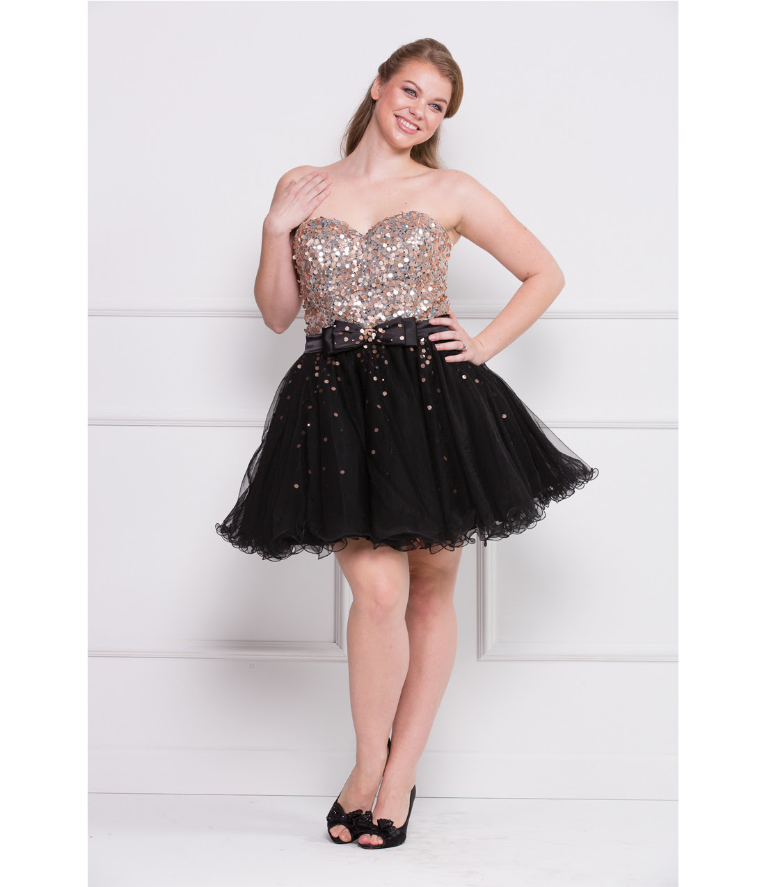 Short evening dresses plus size