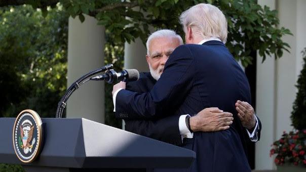 Donald Trump se reunió en la Casa Blanca con el primer ministro indio, Narendra Modi.