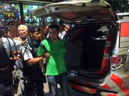 Uno de los mexicanos detenidos en Fortaleza, Brasil. Foto: Tomada de Twitter