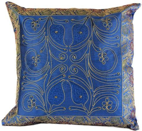 Ornamental Embroidered Throw Pillow Cover, Set of 2