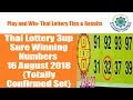Thai Lottery Government Special Paper For 16/08/2018 {Latest Winning Paper}