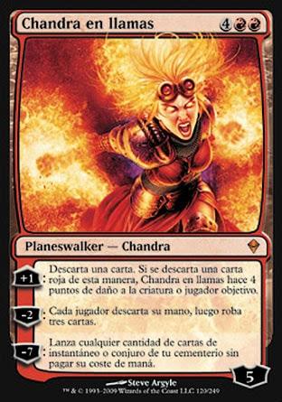 Chandra en llamas
