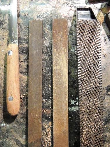 Spatula handle and files