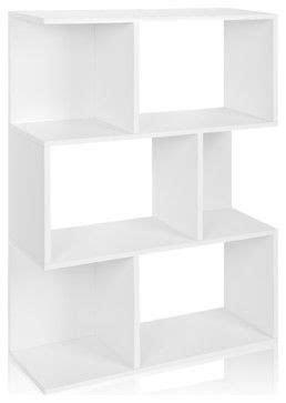 Way Basics Madison Bookcase and Storage, White - modern