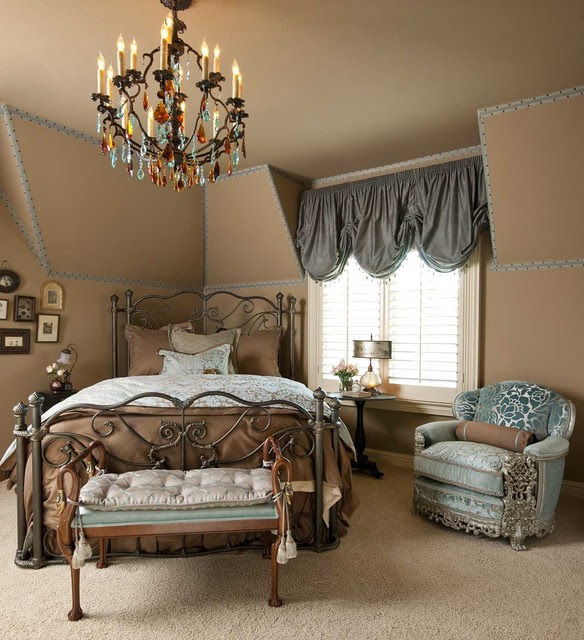 Blue and Beige Guest Bedroom  Traditional  Bedroom  dallas  by RSVP Design Services