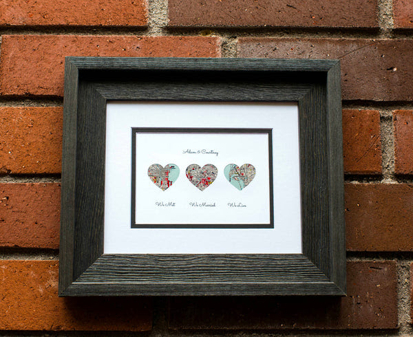 We Met We Married We Live Personalized Map Gift Husband Or Wife