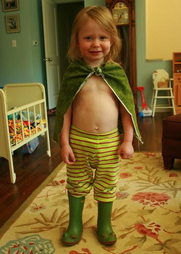 Dressing herself