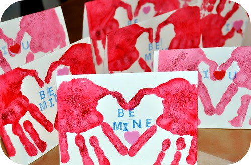 Valentine Handprint Cards