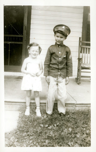 boy in uniform with girl