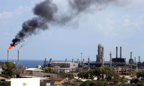 Zawiya Oil refinery in occupied Libya. Since the counter-revolution against Gaddafi and the Jamahiriya the country's oil production has declined by two-thirds. by Pan-African News Wire File Photos