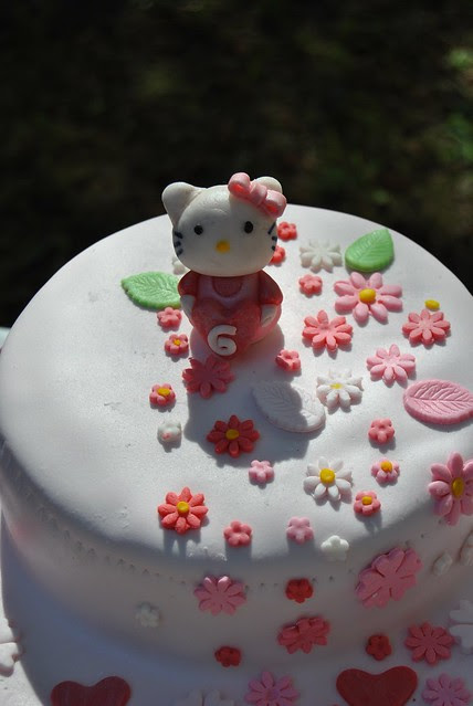 Hello Kitty - Chocolate, Almond, Dulce de Leche Cake