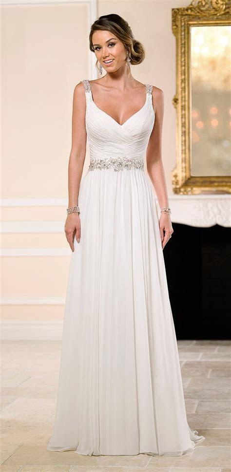 20 Chiffon Wedding Dresses for a Romantic Bridal Look