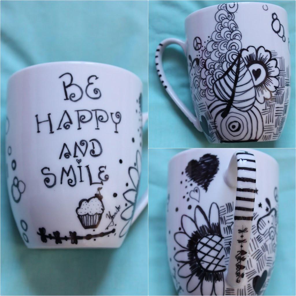 Resultado de imagen de tazas decoradas a mano