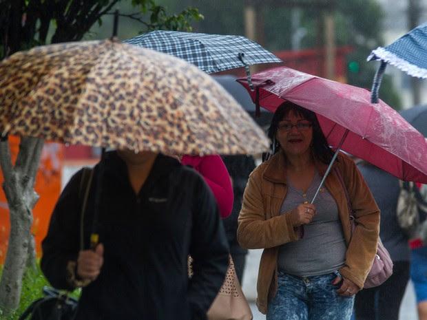 Tempo nublado e garoa em São Paulo na manhã desta terça-feira (07) (Foto: Dario Oliveira/Código 19/Estadão Conteúdo)