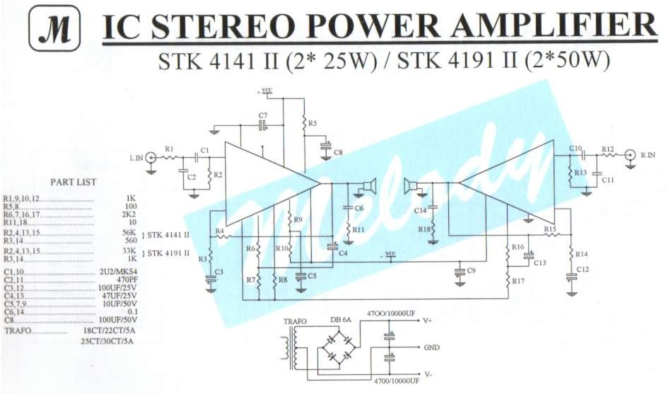 Achievement  Stk4141 Ii Stereo Amplifier Circuit