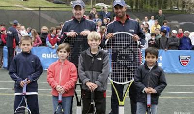 Davis Cup Team Plays Quickstart Tennis
