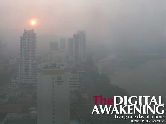 Haze in Penang June 2013