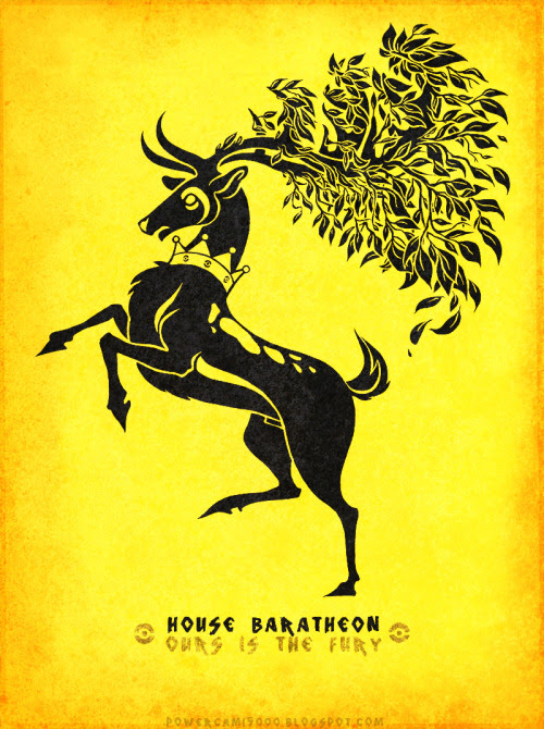 House Sawsbuck / Baratheon by Cami Sanders / posted by ianbrooks.me
