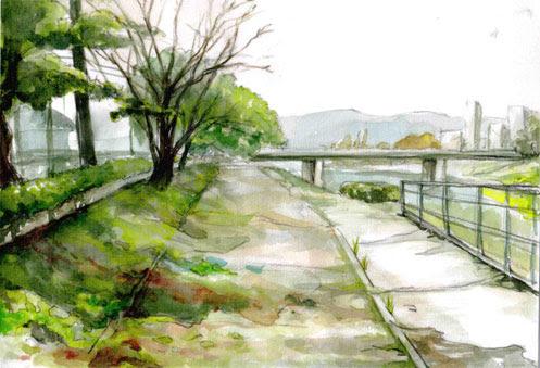 壁紙風景のイラスト集水彩画 壁紙風景のイラスト集水彩画