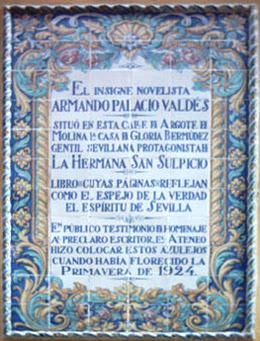 """Imagen de Azulejo: Palacio Valdés y  """"La hermana San Suplicio"""""""
