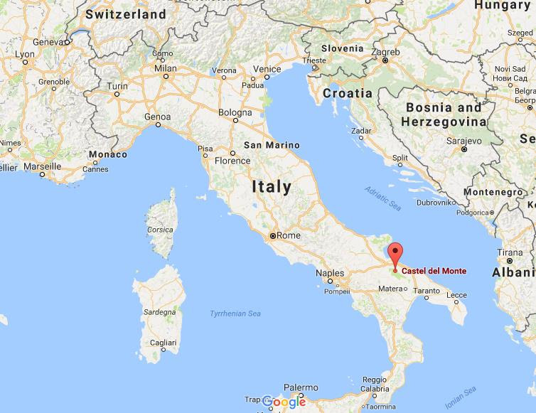 Where is Castel del Monte on map Italy