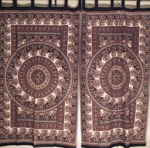 Paisley drapes mandala paisley cotton curtains ethnic - Curtain ideas for living room india ...