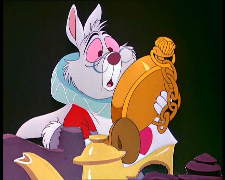 The white rabbit from Alice in Wonderland is soooo me right now