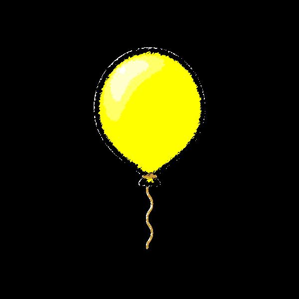 手書き風でかわいい風船の無料イラスト商用フリー オイデ43