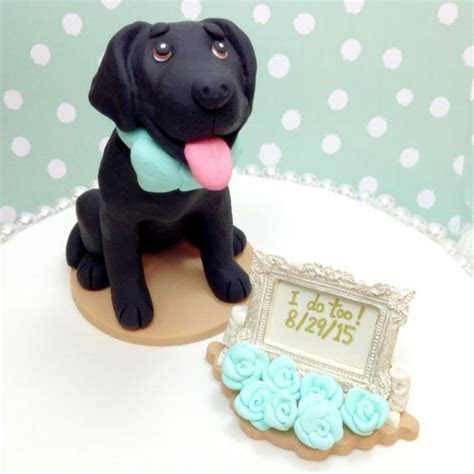 Custom Black Labrador Custom Cake Topper, Black Lab