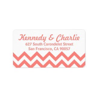 Chevron Wedding Address Labels