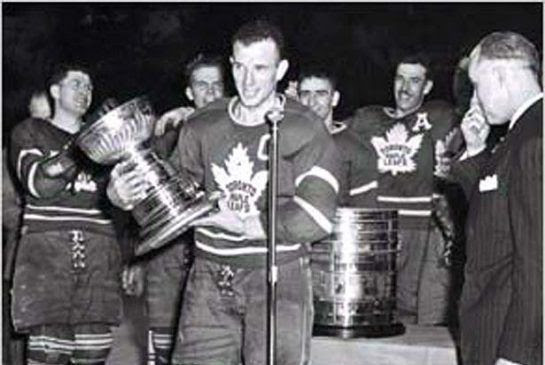 Kennedy with the 1949 Stanley Cup photo Kennedy 1949.jpeg