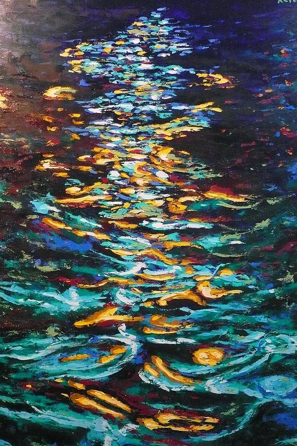 yellow light on dark water ericka herazo