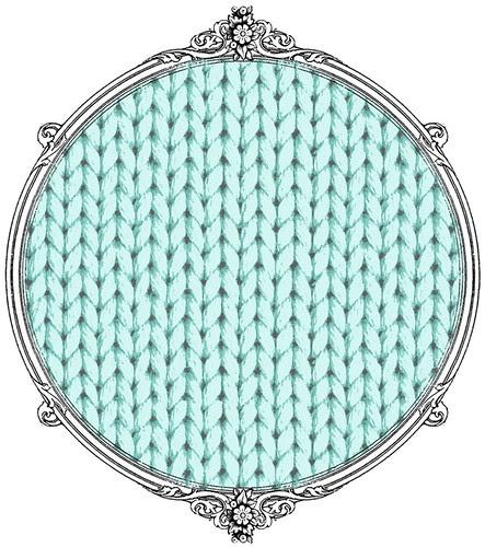 light turquoise knitting paper SAMPLE