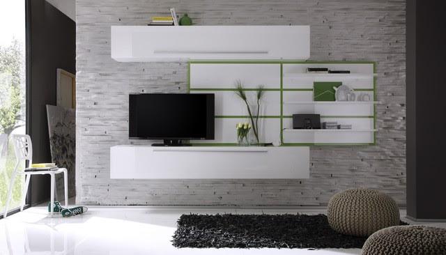 Modern Wall Unit TV Media Entertainment Center Jazz Composition 2 ...