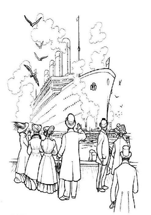 Kids-n-fun.de   30 Ausmalbilder von Titanic